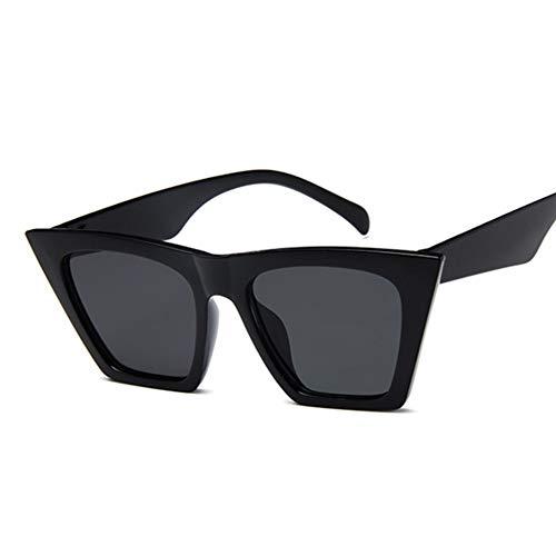 WDDYYBF Sonnenbrillen Fashion Cat Eye Sonnenbrille Frauen Designer Sonnenbrillen Für Frauen Platz Übergroße Schattierungen Weibliche Dame