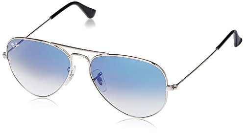 Rayban Aviator unisex Sunglasses (RB3025|58 millimeters|Light Blue)