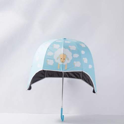 Regenschirm Kreative Helm Klar Regen Regenschirm Frau Abdeckung Die Sonnenschirm Schöne Cartoon Kind Helm Regenschirm (Color : C, Größe : Child 72cm) ()