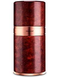 LHFJJ Caja para Tubos de cigarros Humidor de cigarros de Viaje portátil con higrómetro Aleación de Aluminio Forrada…