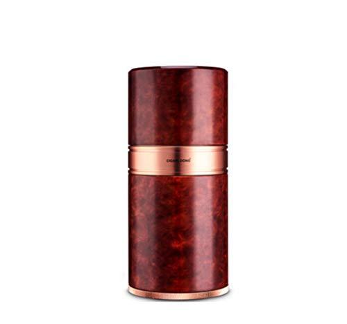 LHFJJ Cigar Tube Case Tragbarer Reise-Zigarren-Humidor mit Hygrometer-Aluminiumlegierung ausgekleidet Zigarrenschachtel-Halter-Behälter für 7 Zigarren-Erntedankfest Idee