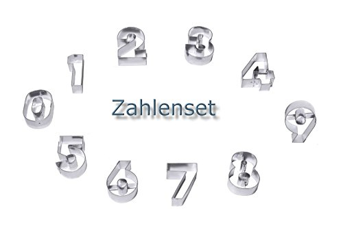 Ausstechformen Ausstecher Zahlen Zahlenformen Backformen Plätzchenformen groß