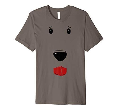 Hund Face Shirt, funny Cute Pet Halloween-Kostüm Geschenk Tee