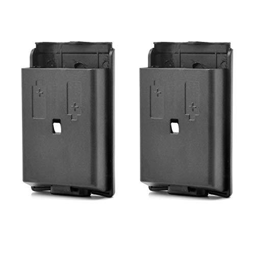 Neuftech 2pcs Batteriefach Akku Deckel Cover Gehäuse für Gamepad Xbox 360 Controller - schwarz