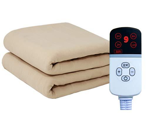 HUYYA Heizdecke, abschaltautomatik Sicher & Warm Heated Blanket -Premium Komfort wärmedecke elektrisch,Camel_180x90cm