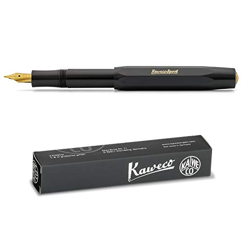 Kaweco Classic Sport - Pluma estilográfica, color negro