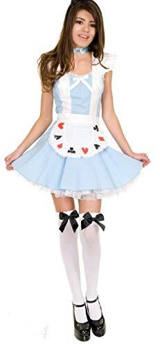 Forever Young - Damen Alice im Wunderland-Kostüm -Strümpfe Größe 32