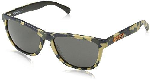 Oakley Herren Global Frogskin Lx 204312 56 Sonnenbrille, Grün (Camo/Dark Grey),