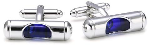 Teroon Unisex - Adults Cufflinks Brass 610894 Spirit Level Blue