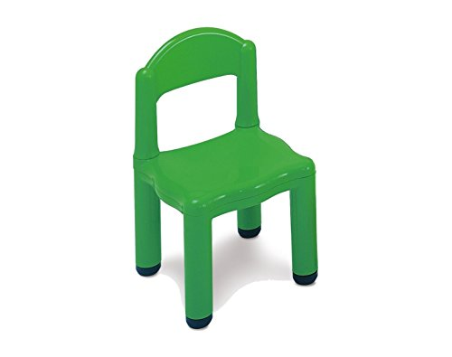 Italveneta didattica 60014 - seggiolina in plastica verde con tappo per gambe da 5 cm