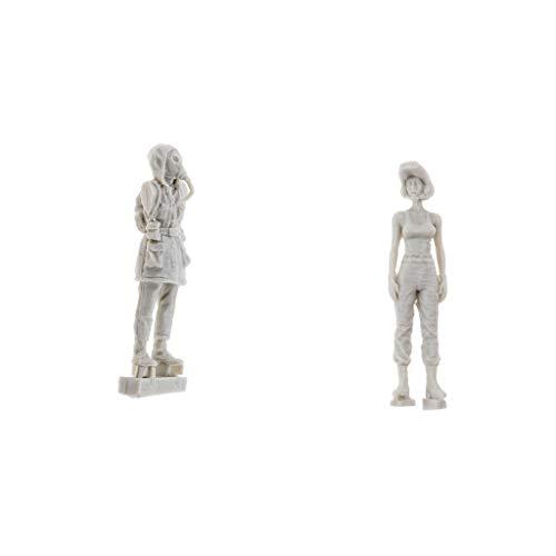 NON MagiDeal 1/35 Character Action Figure Soldados de Resina Desensamblan Kits de Modelos Sin Pintar