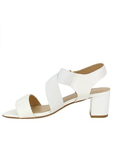 Cendriyon, Sandale Blanche OMODA Chaussures Femme Blanc