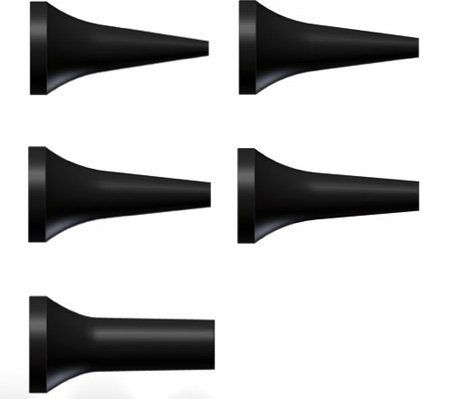 Riester 14061-534 Einmal-Ohrtrichter für e-scope + ri-scope Otoskop L1/L2, ø 4 mm, Schwarz (100-er Pack) (L2 Otoskop)