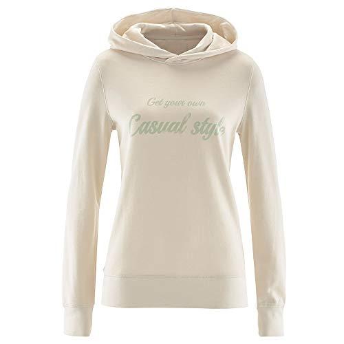 iHENGH Top Damen,Women Herbstliche LäSsige LangäRmel Lose Buchstaben Druck Pullover Hoodie Bluse Top Shirt Crop Tops Damen Mode