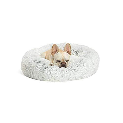 Lrhps Deluxe-Haustierbett,Kuschelkissen für Hunde und Katzen, weich, waschbar,für Katzen und kleine bis mittelgroße Hunde,Grau,100 * 100cm -