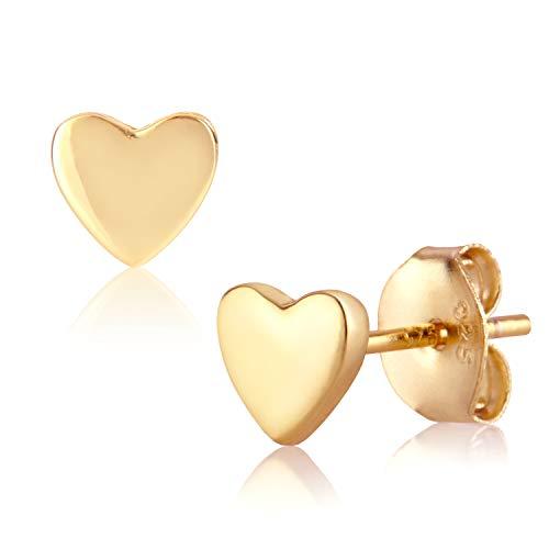 Ohrstecker gold von BRANDLINGER SCHMUCK. Ohrringe silber aus 925 Sterling Silber und 14K Gold und Weissgold Plattierung. Ohrringe Mädchen designed in Deutschland
