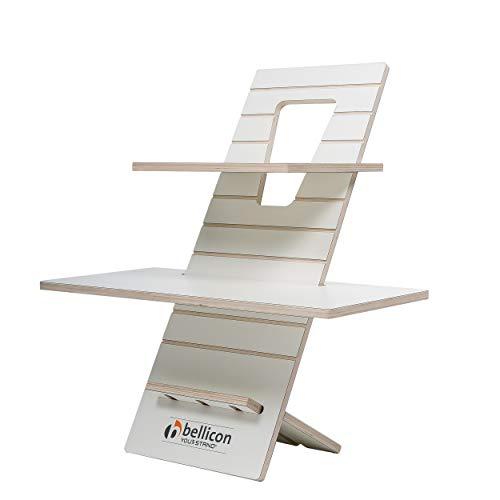 bellicon You-Stand Classic White Edition: Für das Arbeiten im Stehen! Ergonomisch, höhenverstellbar, Steh-Schreibtisch,Steh-Sitz-Workstation, Laptoptisch (FSC geprüft)