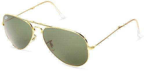 Ray-Ban Unisex Aviator Sonnenbrille Rb3479, Gold (001 001), Large (Herstellergröße: 58)