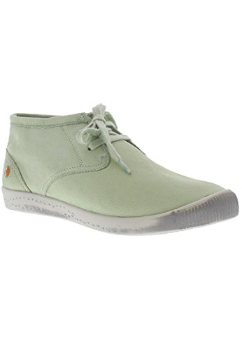 Softinos Indira Washed Leather, Derbies à lacets femme Pastel Green