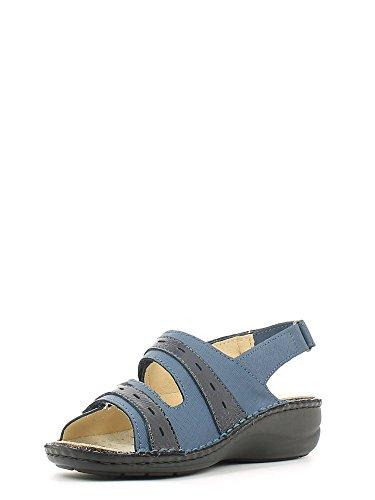 Grünland DARA SE0061 bleu sandales femme chicots assise plantaire amovible Bleu