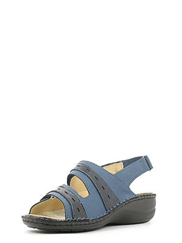 Grünland DARA SE0061 bleu sandales femme chicots assise plantaire amovible Blu