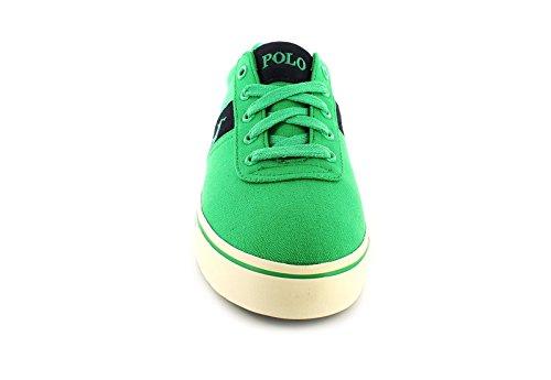 POLO RALPH LAUREN ANFORD Les souliers verts homme baskets tissu Verde