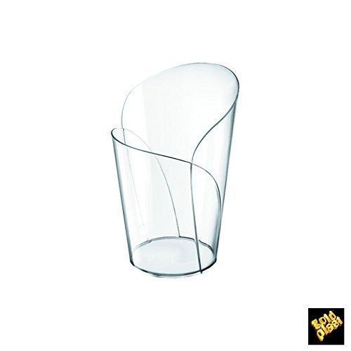 Gold Plast - Bicchierino Blossom, colore trasparente - 15 pz per confezione, Capienza 90 cc