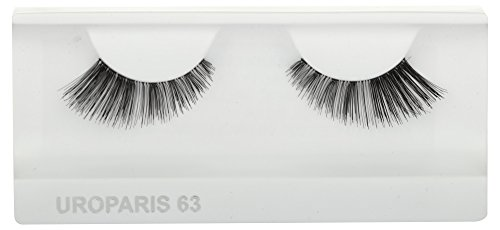 UROPARIS False Eyelashes for Women, 63, Black