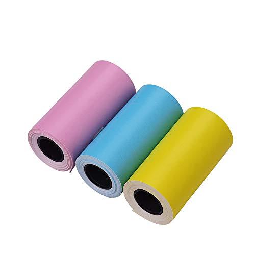 Aibecy Etiqueta adhesiva color imprimible Rollo papel