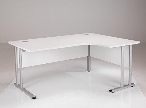 Affordable BiMi Right Hand Eronomic Desk 1600 x 1200 White on Amazon