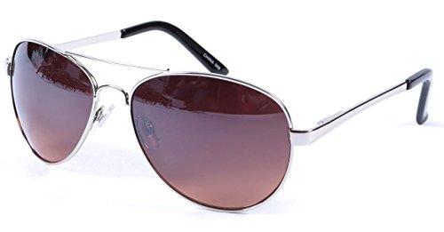 Fahren Sonnenbrille Silber 100% UV 400 Schutz Blockieren Blaues Licht Objektiv + Fall
