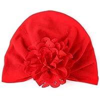 TO_GOO Sombrero de bebé de Punto cálido con Flores caladas Gorro de Punto Seguro y no irritante 1pcs