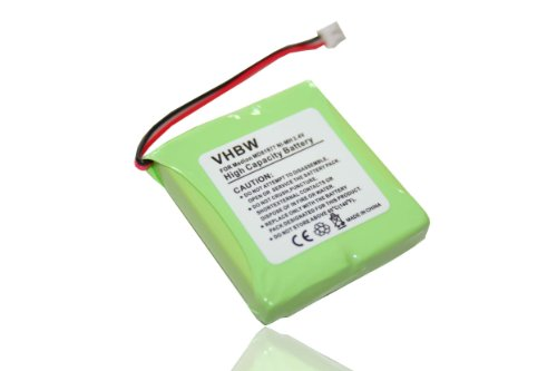 vhbw NiMH Akku 600mAh (2.4V) für schnurlos Festnetz Telefon Medion Life S63006, S63008, S63022, Slim 500, X680 wie 5M702BMX, GP0827, GPHP70-R05.