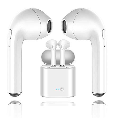 Huyeta Bluetooth Headphones Truly Wireless Earbuds Mini In-Ear Earphones Hands Free Earpiece Touch Control Bluetooth Earphone Noise Cancelling Waterproof Headset with Mic (Ipod Nano Control)
