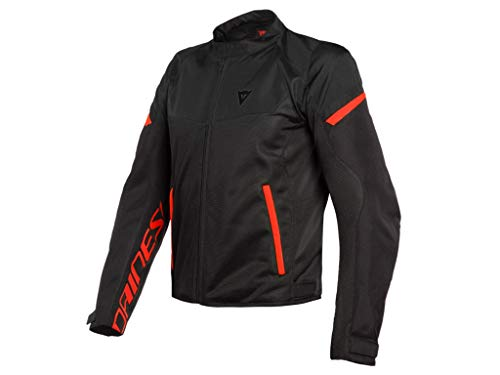 Dainese Bora Air Tex Giacca Moto Uomo Nero Fluo Rosso J&S