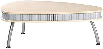 Simmob COGNAC616EU Table Basse Ovale Panneau de Bois/Mélamine Erable 83 x 125 x 44 cm