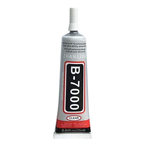 BrookfendiFR B-7000 Mehrzweck-Kleber für Schmuck, Handwerk, Strass und Gel, für Fingernägel, zum Selbermachen, Fester Rahmen für Telefon, Glas, 25 ml, Zufällig, 25ml