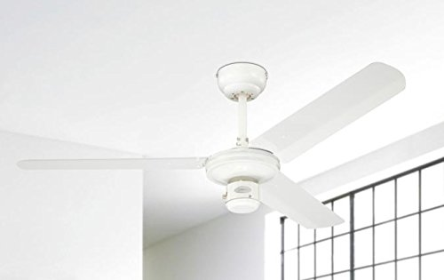 Westinghouse 7833740 78337 Industrial 122 cm Three Indoor Ceiling Fan, White Finish with White Blades