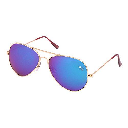 H&H Aviator Mens Sunglasses(Aviatorgldmercuryblu|Blue)