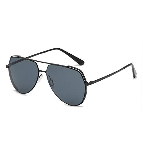 GOLDT1 Militärstil Sonnenbrille Flieger Sonnenbrille Casual Sport Sonnenbrille super leichte Männer Fahren im Freien, 100% UV-Schutz (Size : Black Frame Gray Lens)