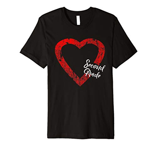 I Love Second Grade Valentine T-Shirt for 2nd Grader Kids