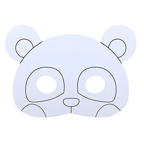 Malen in Uni Karte Tiermasken für Kinder Kunst Basteln DIY Paiting Maske panda