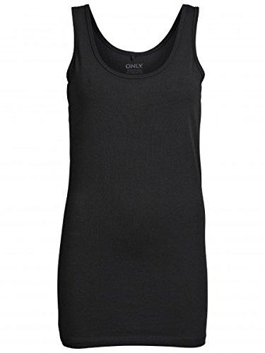 ONLY Damen Top Onllive Love Long Tank Top Noos, Größe:S;Farbe:Black