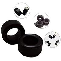Bloomgreen Co. 10Pcs 10 mm * 6 mm * 5 mm inductor Bobinas Negro toroide de ferrita Núcleos de anti-interferencia