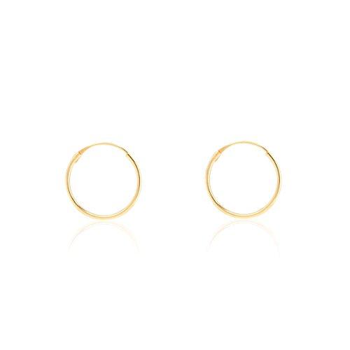 Orecchini per Bambini a cerchio 10x0.80 mm - oro giallo 18K (750)