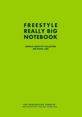 Freestyle Really Big Notebook, Serious Creativity Collection, 800 Pages, Lime por The Productive Luddite