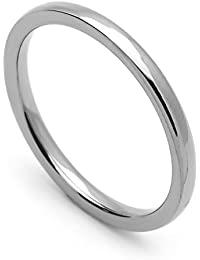 Little Treasures 2MM Comfort Fit Stainless Steel Wedding Band Classic Domed Ring