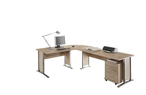 Stella Trading Office Line Winkelkombinantion, Eckschreibtisch, Holzdekor, Sonoma, (B/H/T) 220 x 170 x 72 cm