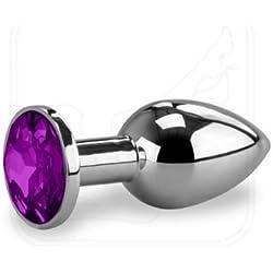 Plug 'Too 2-Plug anal, talla S (7x 3cm), diseño con joya incorporada, varios colores para elegir, azul, S