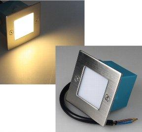 mur d'éclairage - Acier LED Mur Eclairage Encastré Inoxydable Blanc